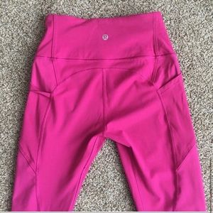 Rare pink lulu lemon leggings!